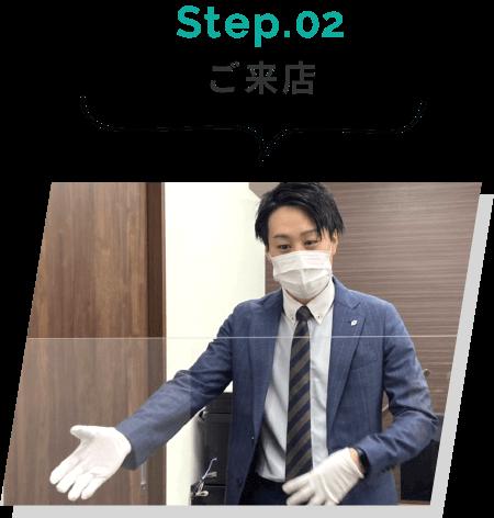 Step.02 ご来店