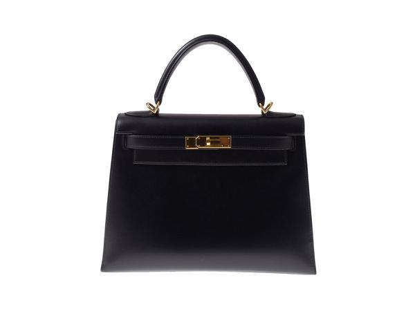 エルメス・ケリー28・ボックスカーフのバッグを買取 福岡 薬院店