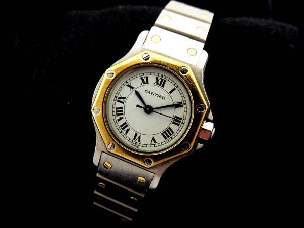 カルティエ・サントスオクタゴンの腕時計を買取|名古屋|名古屋野並店