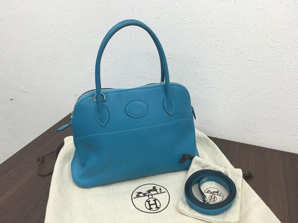 エルメス・ボリード27・ストラップ付きのハンドバッグを買取|横浜|横浜青葉台店