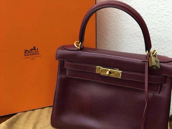 エルメス・ケリー28cm・〇U刻・カーフ・内縫いのバッグを買取|神戸|ラポルテ芦屋店