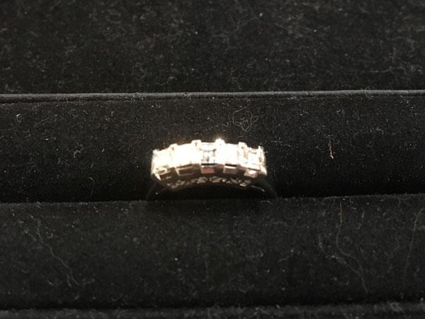 スクエアーカットのダイヤモンドリングを買取|神戸|兵庫店