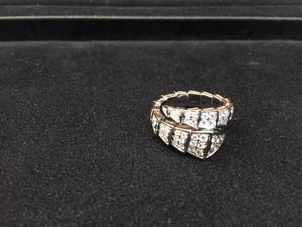 ブルガリ・セルペンティ・フルダイヤのリングを買取 神戸 夙川店