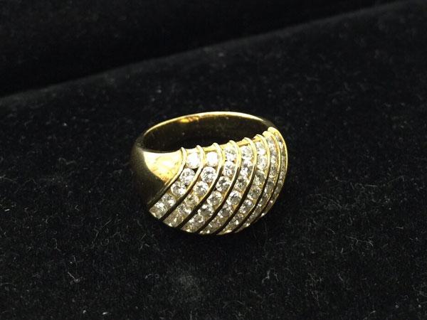 K18・YG・パヴェダイヤリングを買取|神戸|垂水店
