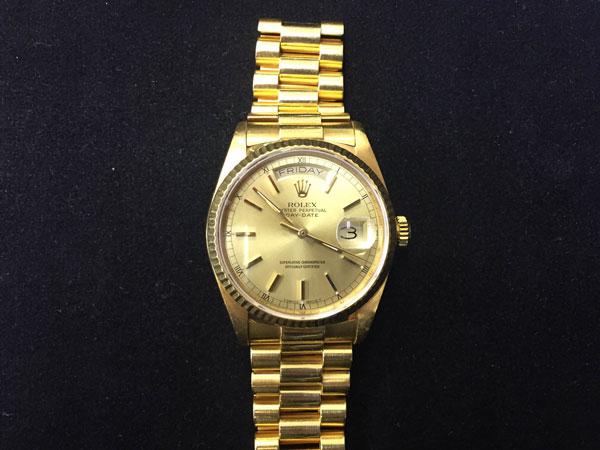 ロレックス・デイデイト・18038の腕時計を買取|神戸|夙川店