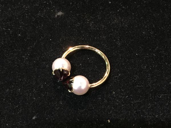 田崎真珠・リファインドリベリオン・ガーネットのリングを買取 神戸 兵庫店