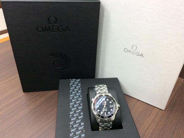 オメガ・シーマスター・007映画50周年記念限定モデルの腕時計を買取|難波|天王寺上本町店