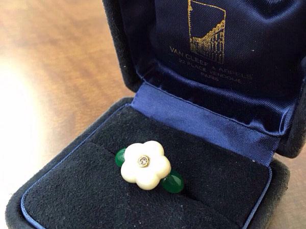 ヴァンクリーフ&アーペル・ローズ・1Pのダイヤモンドリングを買取 神戸 ラポルテ芦屋店