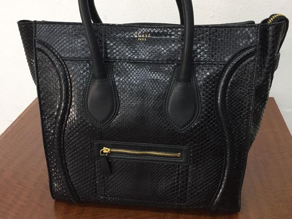セリーヌ・ラゲージ・パイソン・ミニショッパーのバッグを買取 横浜 あざみ野店