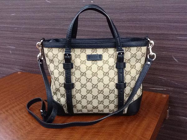 グッチ・キャンバス×レザー・2wayのバッグを買取 広島 広島緑井店