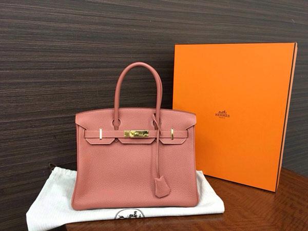 エルメス・バーキン30・トゴ・ローズティのバッグを買取 神戸 東灘店