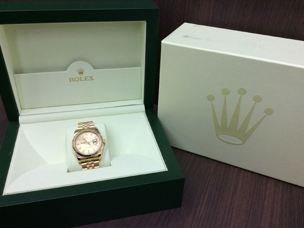 ロレックス・デイトジャスト・116238の腕時計を買取 難波 天王寺上本町店