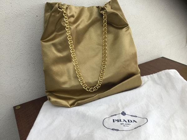 プラダ・ナイロン・チェーンのトートバッグを買取 神戸 神戸店