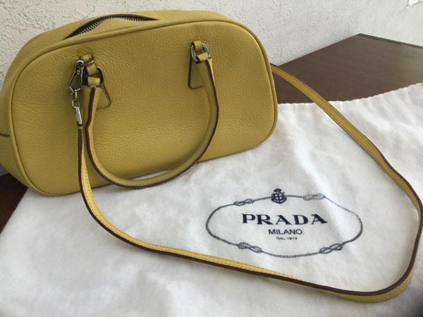 プラダ・2way・レザーのミニハンドバッグを買取 神戸 神戸店