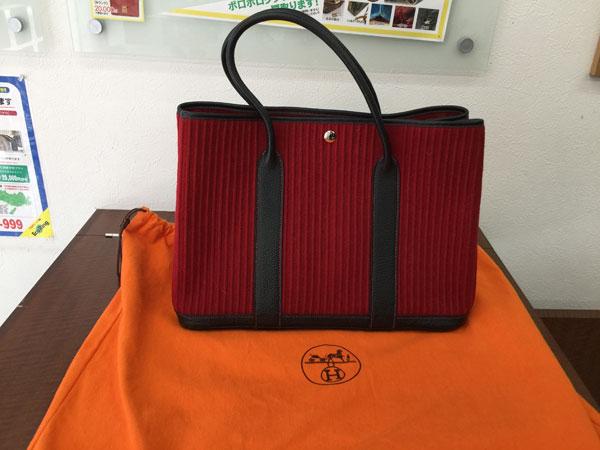 エルメス・ガーデンパーティ・MM・フェルトウールのバッグを買取|神戸|垂水店