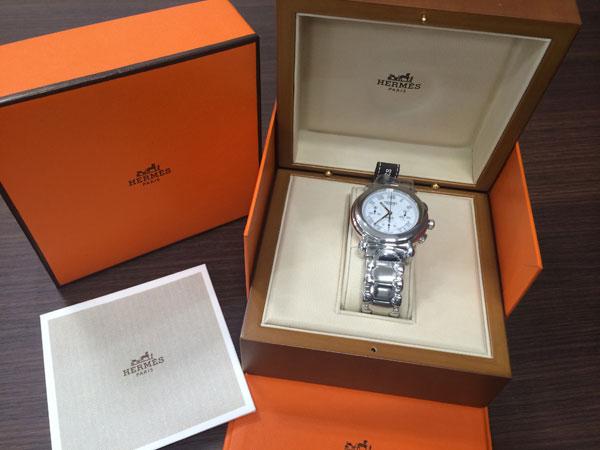 エルメス・ケプラークロノ・kp1.910の腕時計を買取 神戸 新長田店