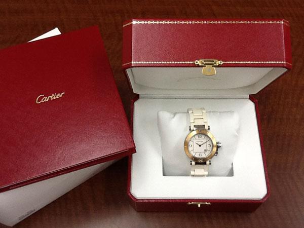 カルティエ・パシャ・ラバーの腕時計を買取|広島|広島緑井店