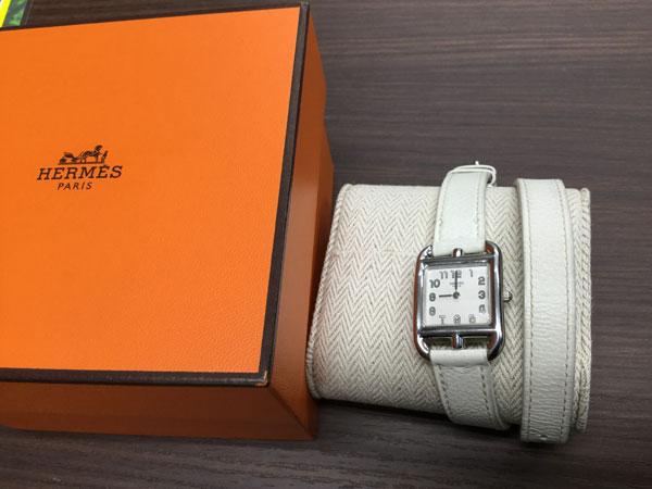 エルメス・ケープコット・ドゥーブルトゥールの腕時計を買取 名古屋 名古屋徳重店