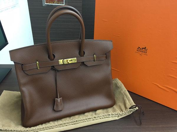 エルメス・バーキン35・アルデンヌ・ショコラのバッグを買取|横浜|横浜青葉台店