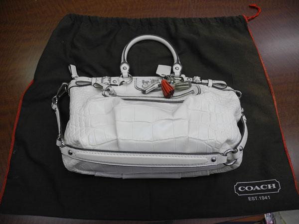 コーチ・型押し・2wayのバッグを買取 川崎 川崎鷺沼店