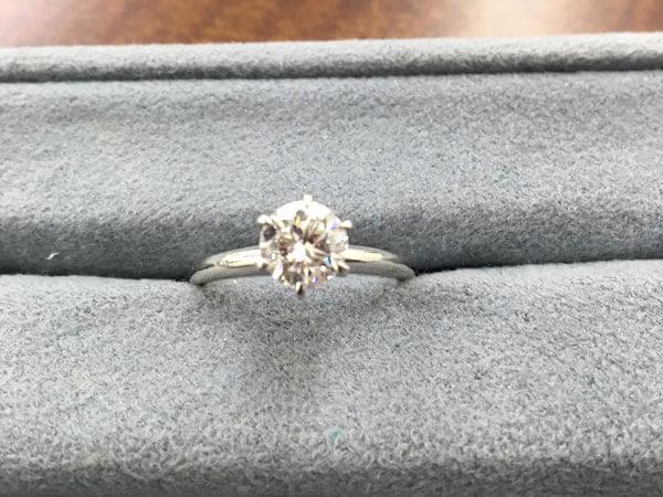 Pt900・D1.00ctのダイヤモンドリングを買取 神戸 ラポルテ芦屋店