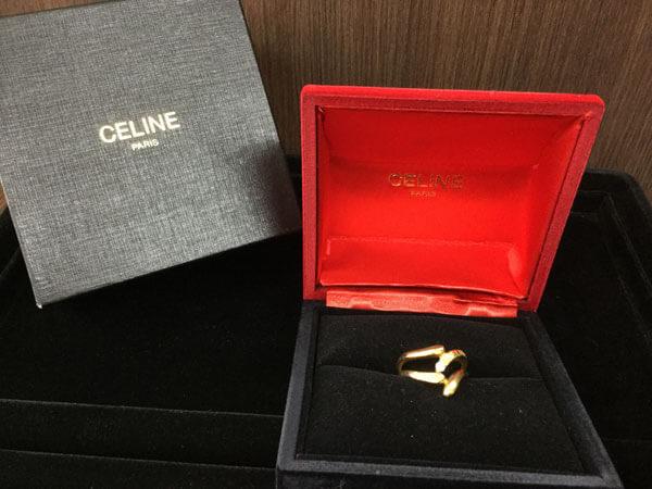 セリーヌ・K18・D0.07ctのデザインリングを買取|大阪|茨木店