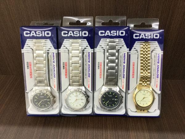 カシオの腕時計4点を買取 大阪 茨木店