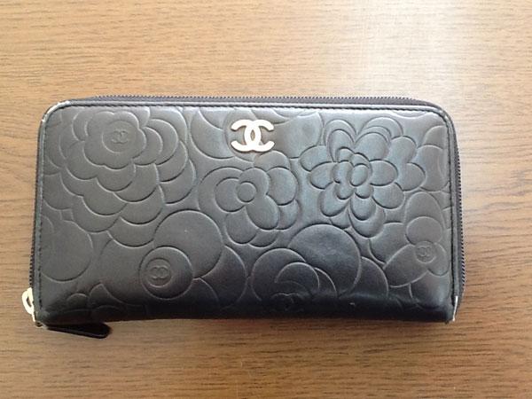 シャネル・カメリアのラウンド長財布を買取|神戸|芦屋店
