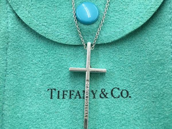ティファニー・750製・クロスのネックレスを買取 広島 広島西店