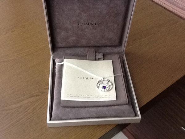ショーメ・アメジスト付き・K18のネックレスを買取|大阪|池田店