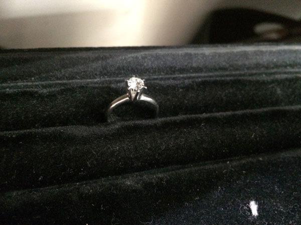 Pm・ダイヤ0.40ct・立て爪のリングを買取 神戸 垂水店