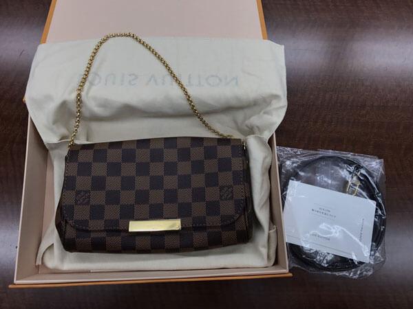 ヴィトン・ダミエ・エベヌ・フェイボリットPMのバッグを買取 名古屋 名古屋大曽根店