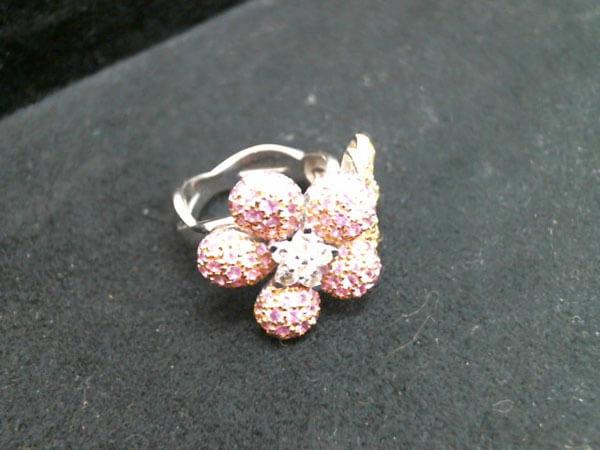 メレダイヤ・色石付・K18のリングを買取 姫路 姫路中央店