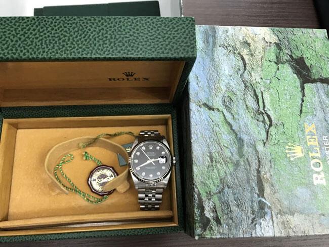 ロレックス・デイトジャスト・メンズ・10Pダイヤの腕時計を買取 名古屋 名古屋西店