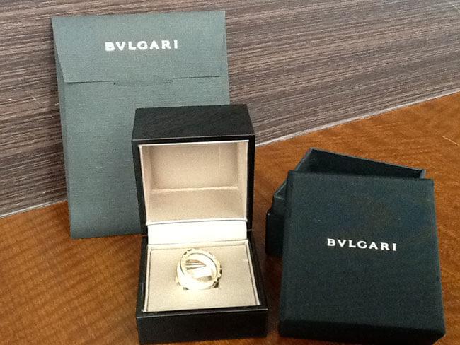 ブルガリ・Bゼロ・ホワイトセラミック・PGのリングを買取 神戸 東灘店