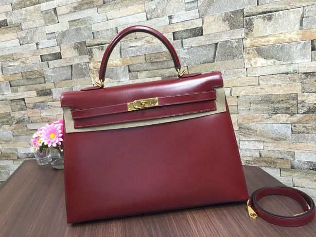 エルメス・ケリー35・□E刻印のバッグを買取|梅田|塚口店