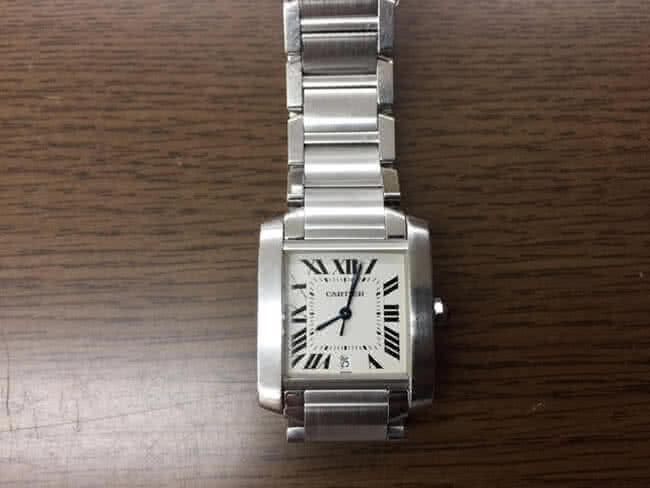 カルティエ・タンクフランセーズLMの腕時計を買取|大阪|箕面店