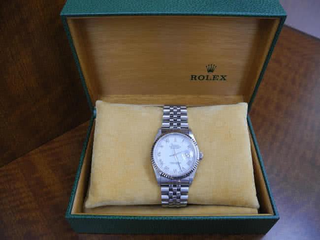 ロレックス・16234・白文字盤・完品の腕時計を買取|広島|広島段原店