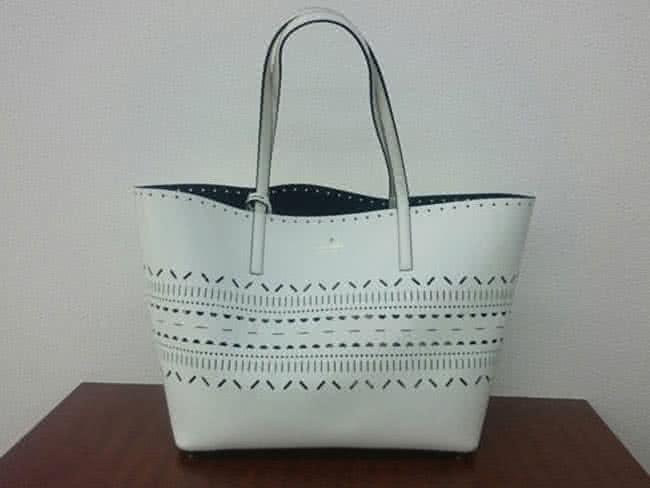 ケイトスペード・レザー・パンチングのトートバッグを買取 名古屋 名古屋高畑店