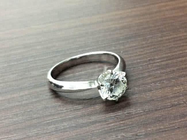Pt950・立爪のリングを買取 難波 天王寺上本町店