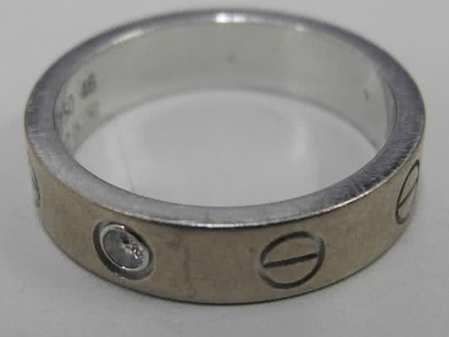 カルティエ・WG・1Pダイヤのラブリングを買取 広島 広島西店