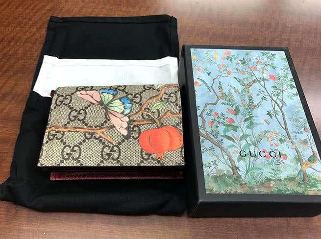 グッチ・花柄 2つ折り財布を買取|愛知県|名古屋大曽根店