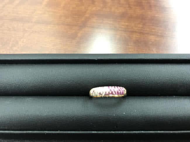ポンテヴェキオ・メレ0.15・サファイア0.29ctのリングを買取 名古屋 名古屋藤が丘店