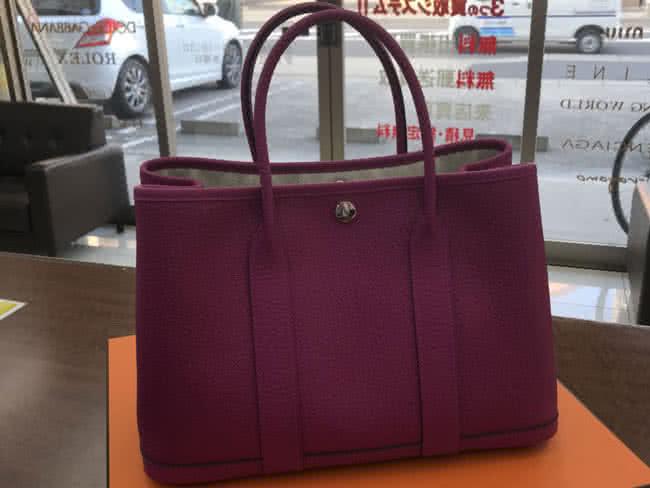エルメス・ガーデンパーティ・ローズパープル・未使用のバッグを買取|名古屋|名古屋香流店