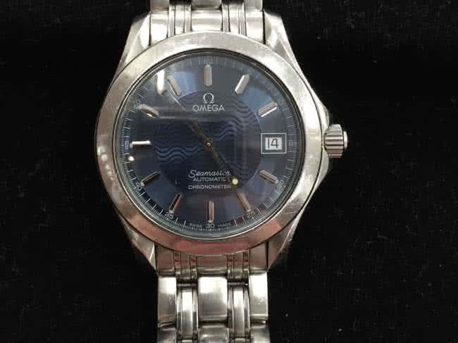 オメガ・シーマスター・クロノメーター・自動巻の腕時計を買取|岡崎|東岡崎店