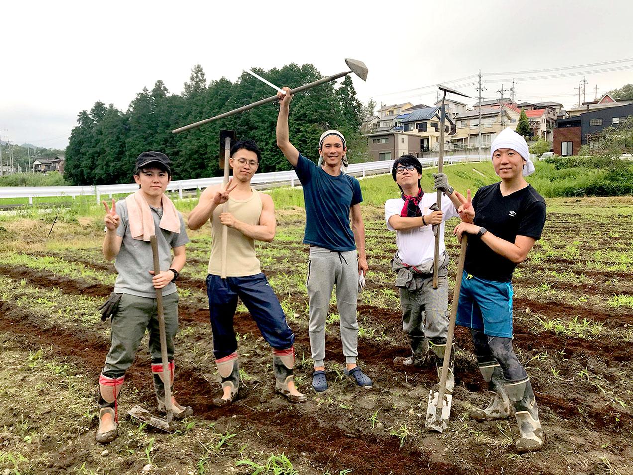 農作業ボランティア