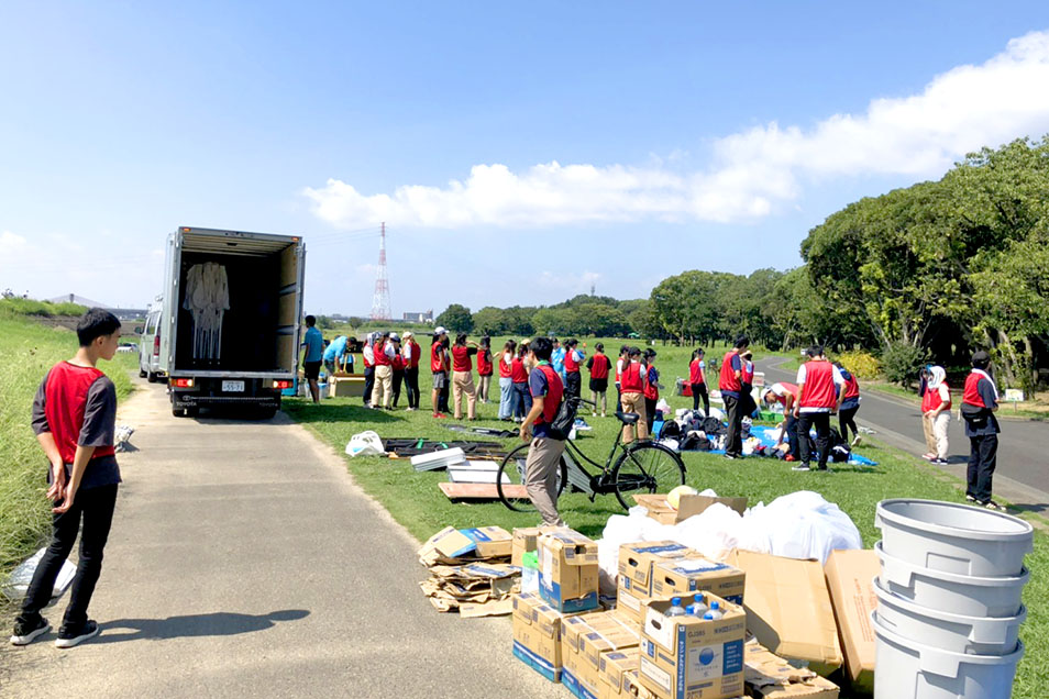 マラソンの運営サポートスタッフボランティア