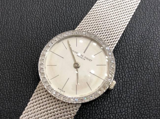 オーデマピゲ・K18・メレダイヤベゼル・レディース・腕時計を買取|東京・渋谷区|渋谷松濤店