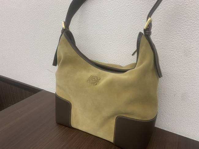 ロエベ・スエード・レザー・ハンドバッグを買取 名古屋 名古屋本山店