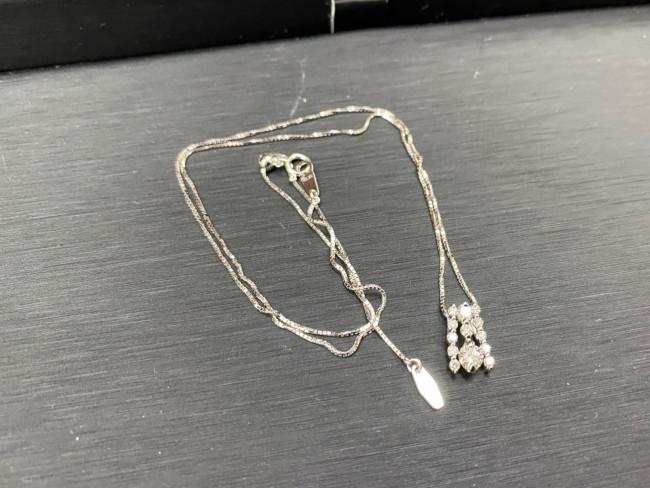 貴金属・K18WG D0.20-D0.27ネックレスを買取|神戸|西宮店